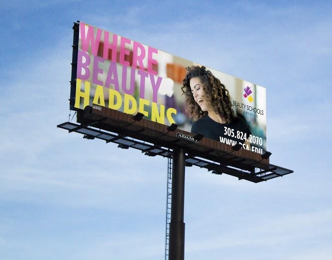 Beauty Schools of America Outdoor Banner BSA billboard